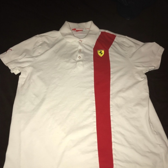 for detailing scuderia d shield online sleeve en and ferrari short store yellow with shirt teens polos shirts collar polo il unisex